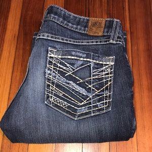 BKE Buckle Sabrina Boot Cut Denim Jeans SHORT
